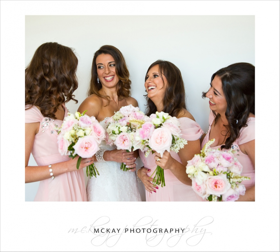Flavia and her bridesmaids looked amazing - such pretty clolours