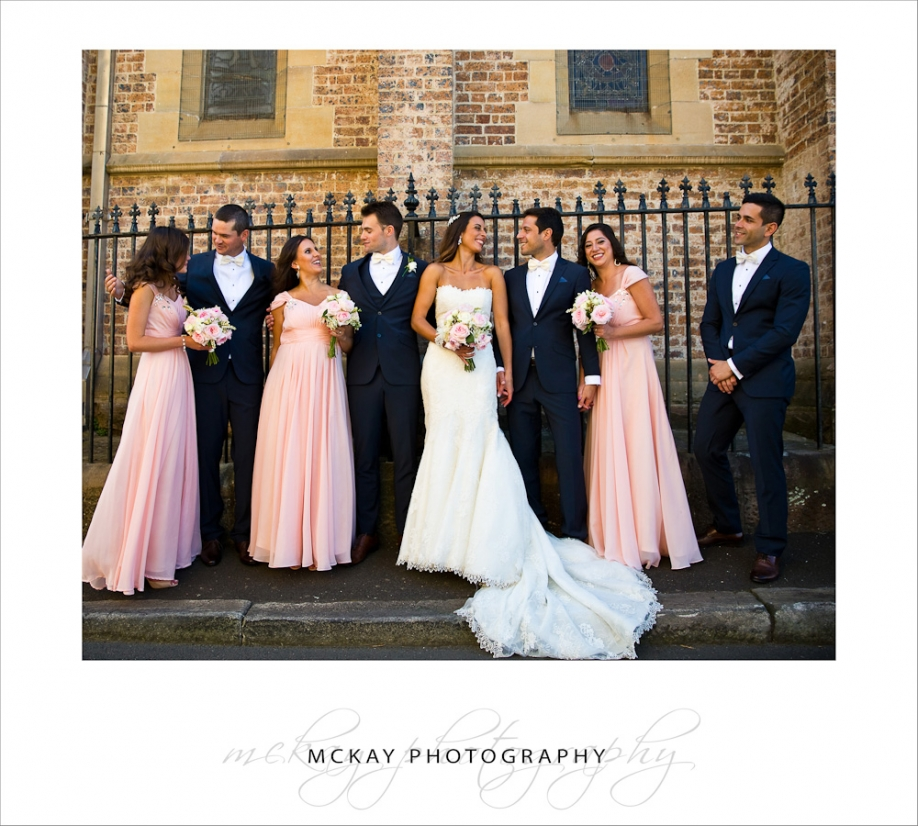The bridal party St James Church Glebe