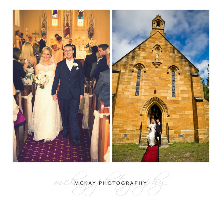 Wedding ceremony at St Francis Xavier Berrima