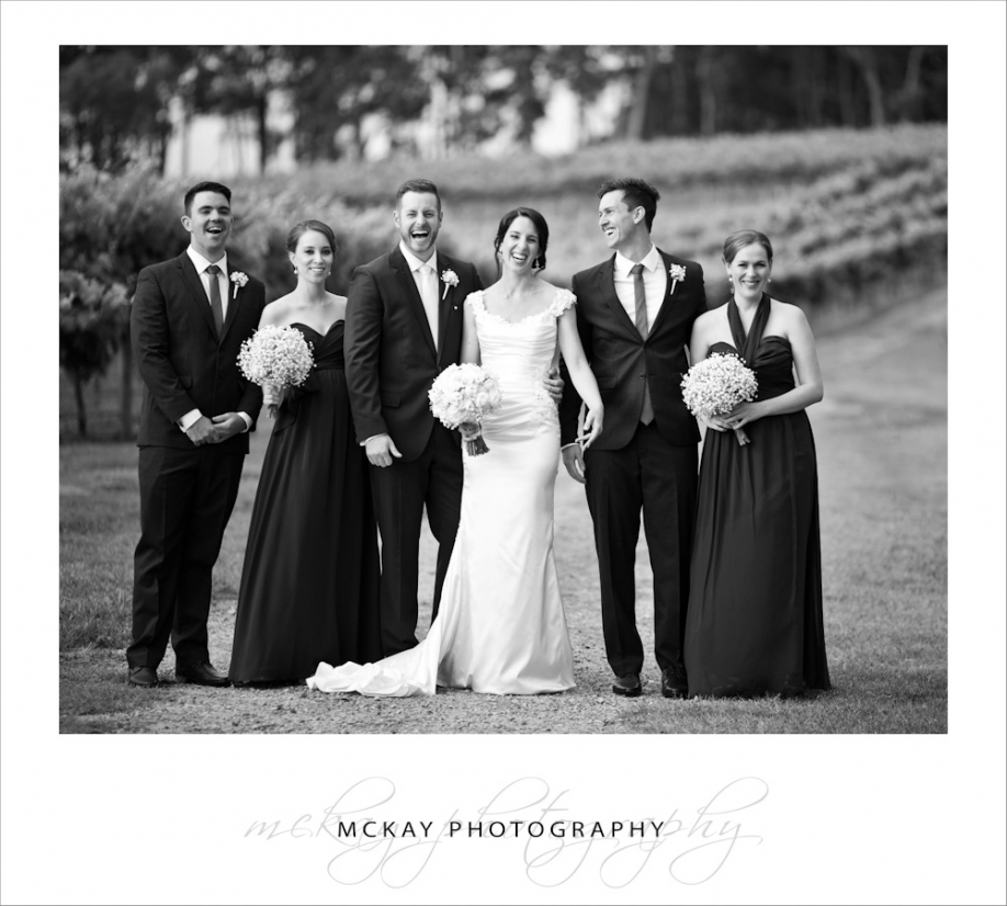 Bridal party at Centennial Vineyards