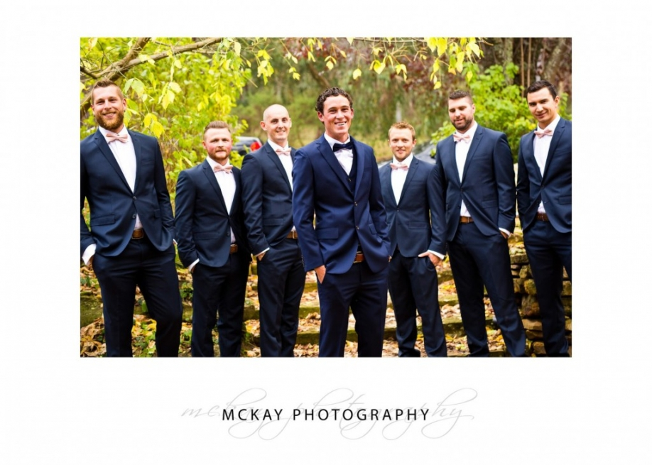 Michael and the groomsmen autumn wedding Bowral