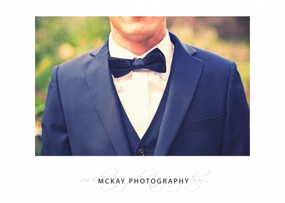 Bow tie groom suit detail