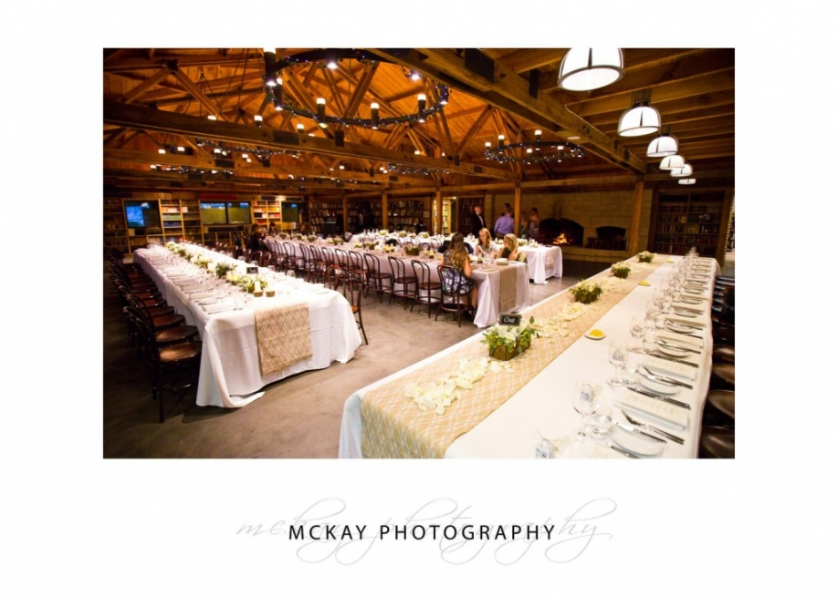 Bendooley Estate book barn wedding interior photo table details
