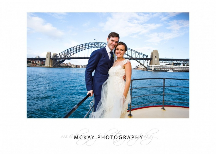 On the harbour cruise ferry wedding