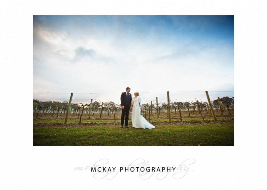 Winter sky wedding Bowral
