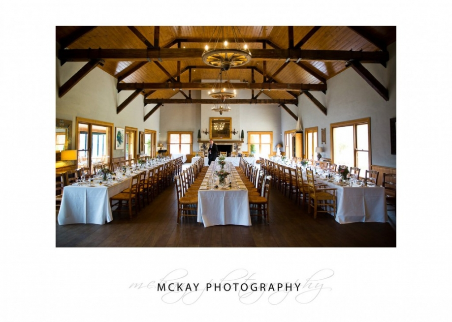 Main hall at Centennial Vineyards