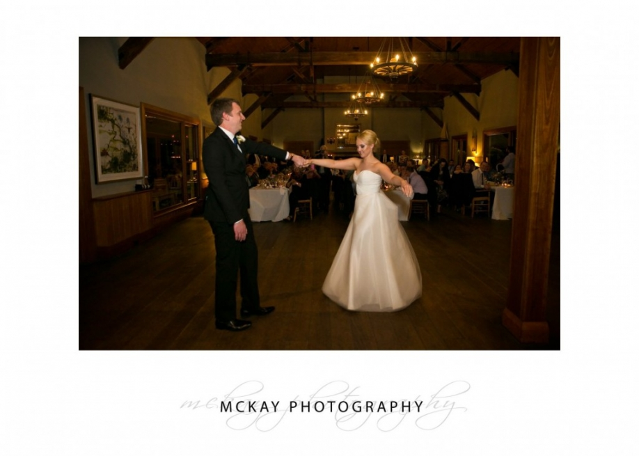 First wedding dance at Centennial Vineyards Bowral