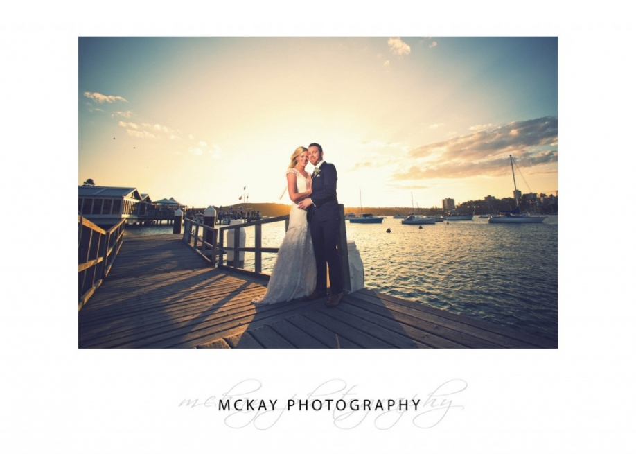 Sunset at Manly Skiff Club wedding