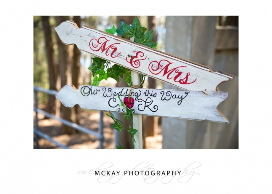 Wedding sign - Mr & Mrs - this way