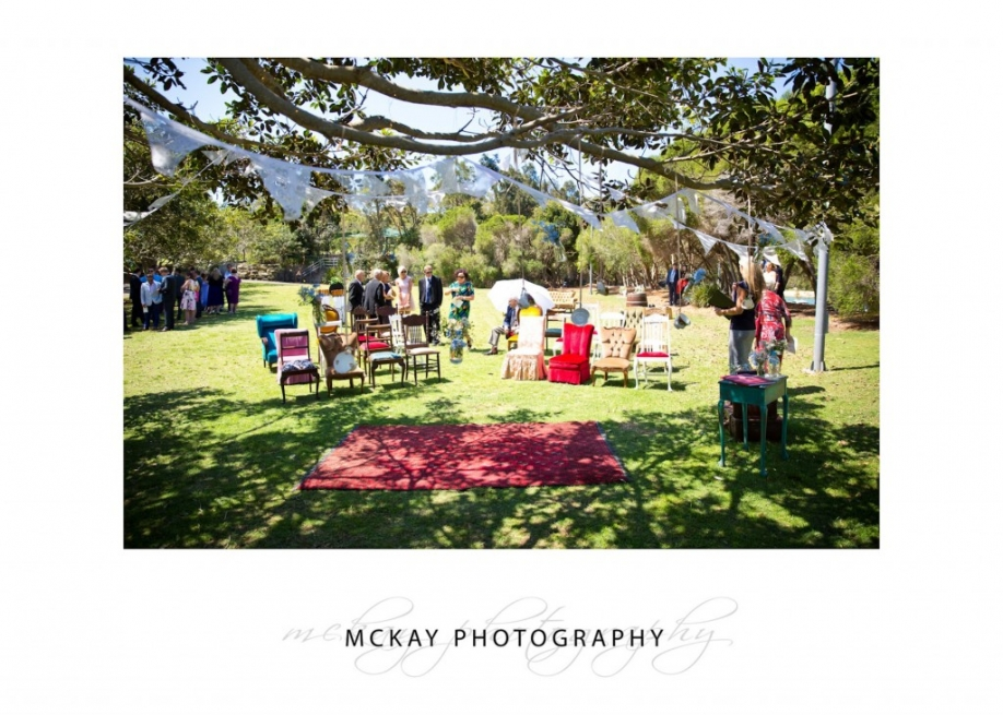 Wedding ceremony set up Little Manly Point