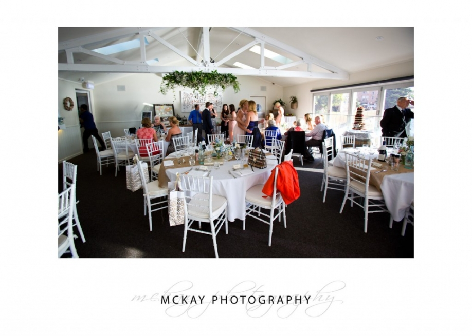 Manly Skiff Club wedding set up