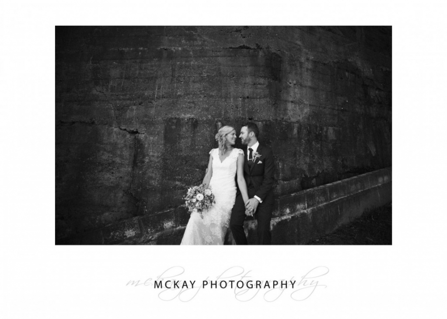 Little Manly Point - wedding photo black and white