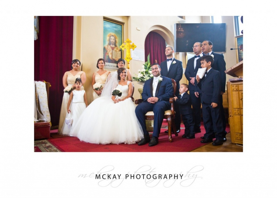 Wedding ceremony at St Mary Coptic Orthodox Church Rhodes