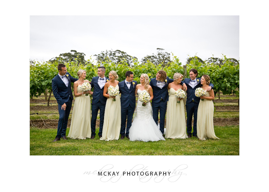 Bridal party at Centennial Vineyards Bowral