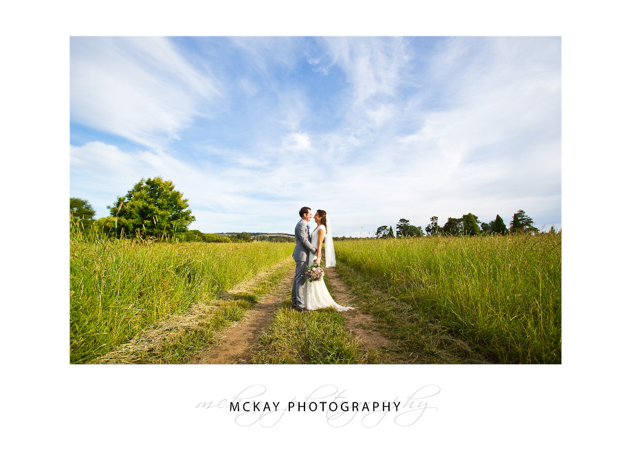 bendooley wedding photo grass field