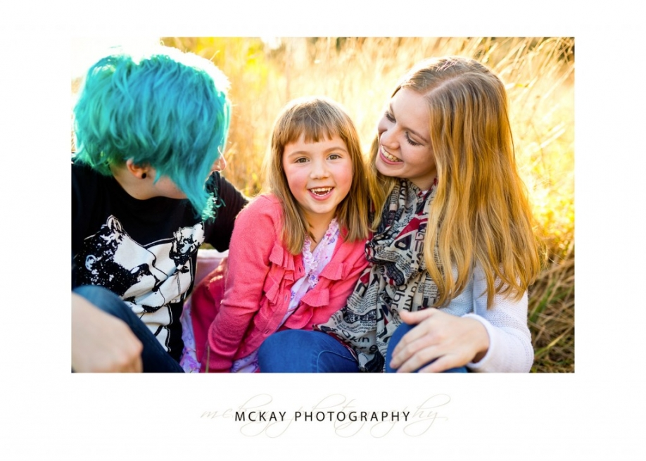 Natural family photos outdoors Bowral
