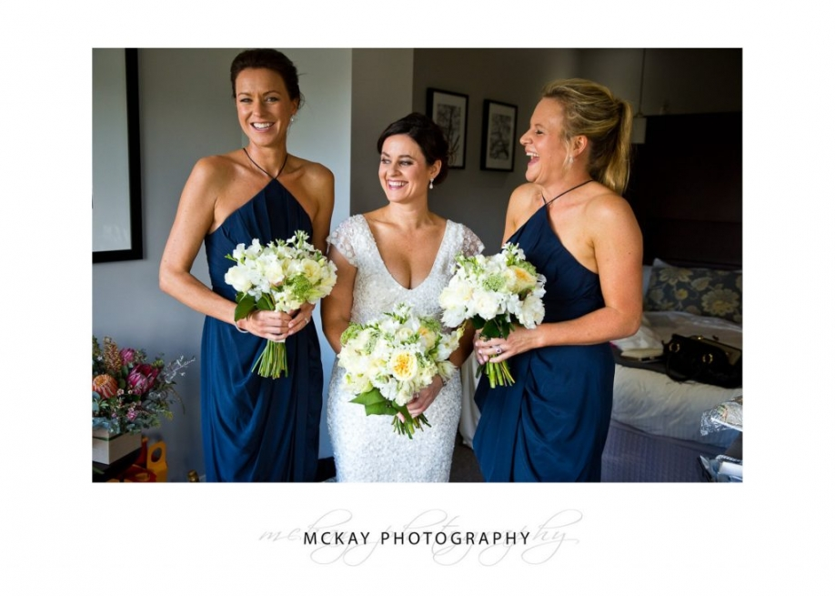 Bride and bridesmaids blue dresses at Peppers Craigieburn