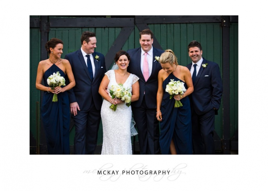 Bridal party photos old barn Peppers Craigieburn