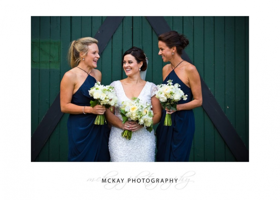 Bride and bridemaids photos old barn Peppers Craigieburn