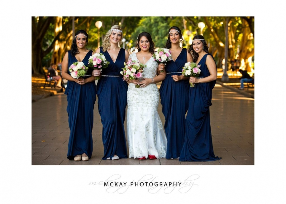 Nicole and bridemaids at Hyde Park photo