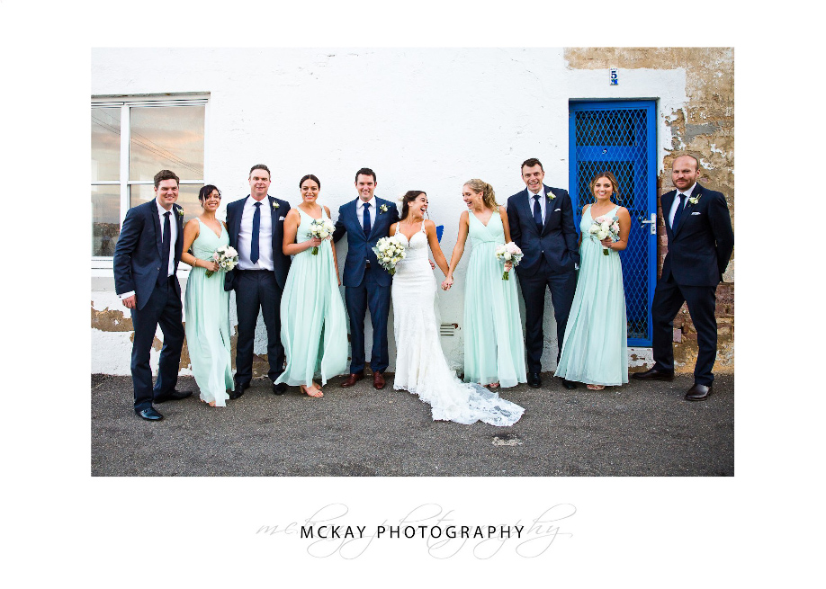 Wedding party at Fairy Bower Manly