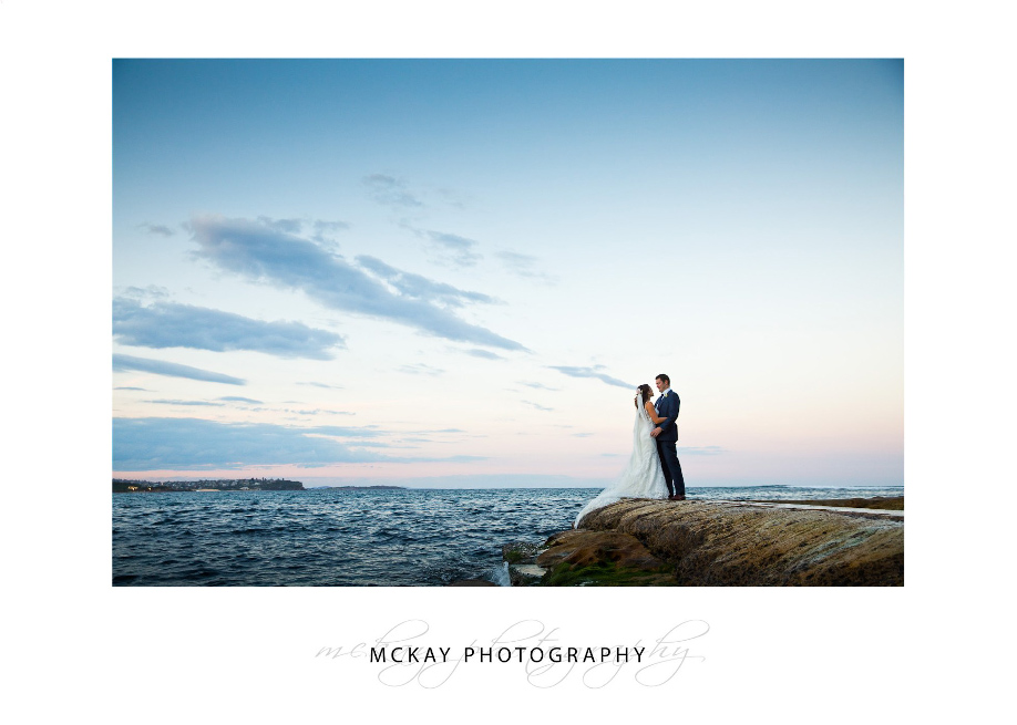Wedding photo at Fairy Bower rock pool Manly