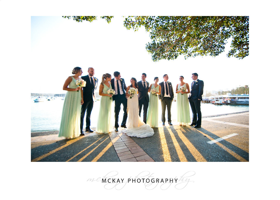 Manly Cove wedding party photo