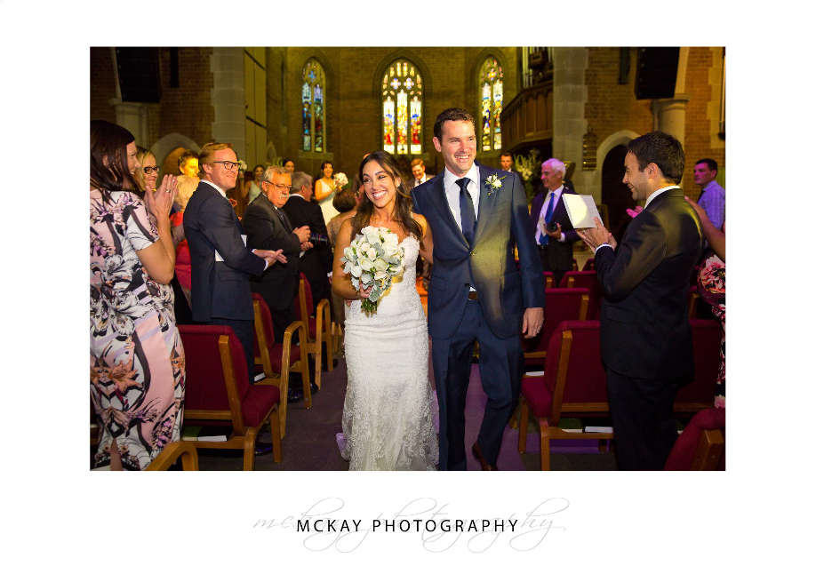 Wedding at St Matthews Manly church