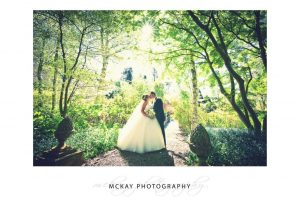 Wedding photo backlit at Red Cow Farm Sutton Forest