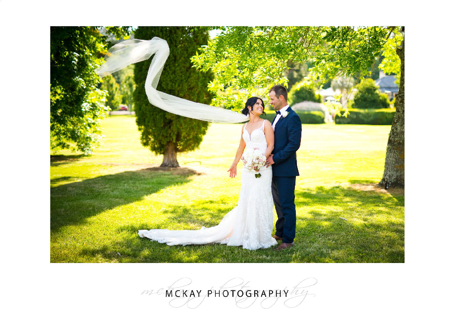 Flying veil wedding photo at Peppers Craigieburn
