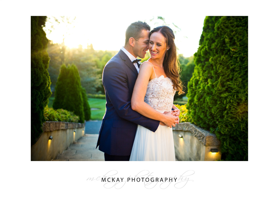 Wedding photo at Sunset in Bowral