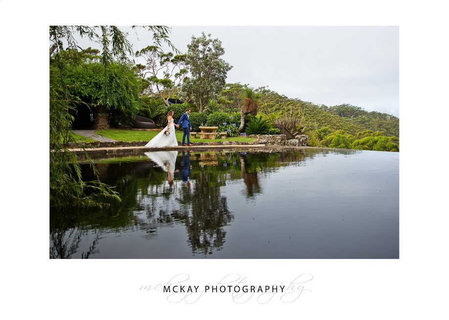 Wedding at Tumbling Waters Retreat photo pool reflection