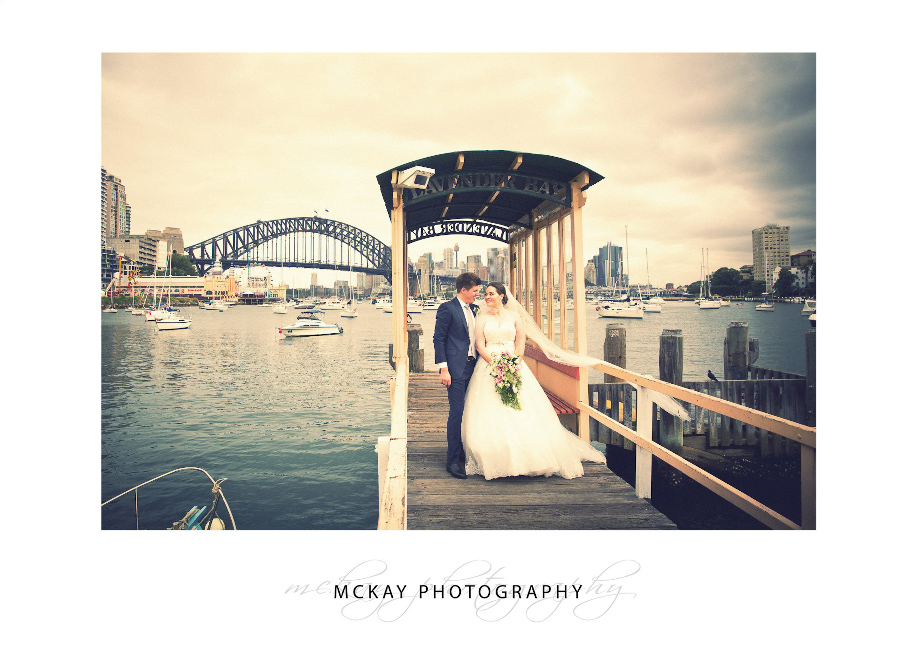 Lavender Bay jetty wedding photo