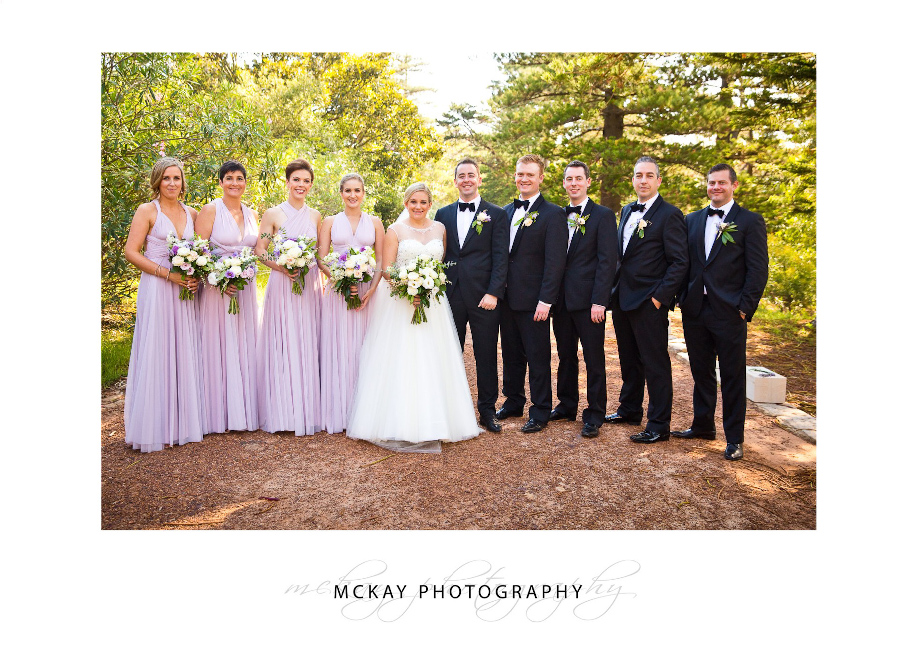 Bridal party at Cerretti Chapel
