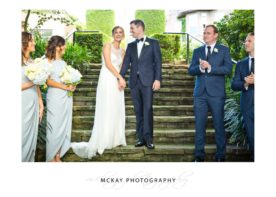Wedding ceremony in Sunken Garden at Royal Sydney Golf Club