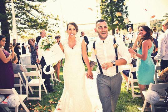 Wedding Southern Highlands Photographer aisle exit