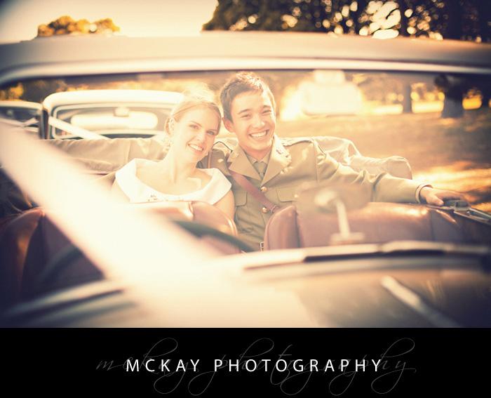 Marg Jared Centennial Park in wedding car