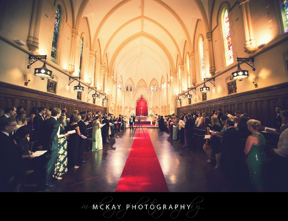 Wide angle photo of Cerretti Chapel wedding