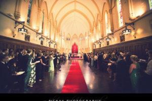 Wide angle photo of Cerretti Chapel wedding