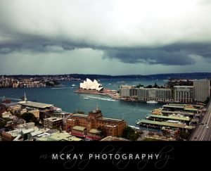 Rain clouds gather over Sydney Opera House