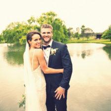Bendooley Estate wedding lake photo