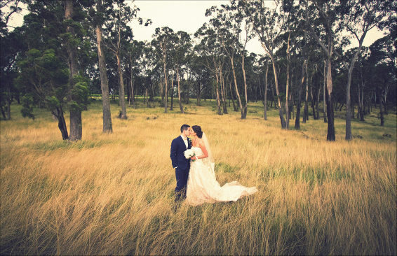 Centennial Vineyards wedding Bowral grass field