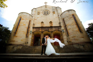 Rachael James wedding at St Mary's Church in North Sydney