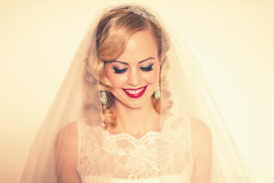 Bride vintage look portrait