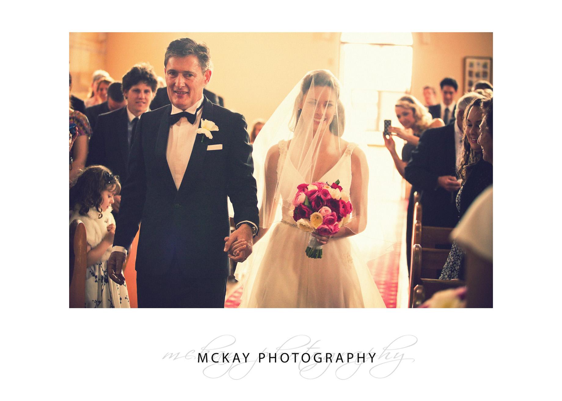 Bride and Dad entrance