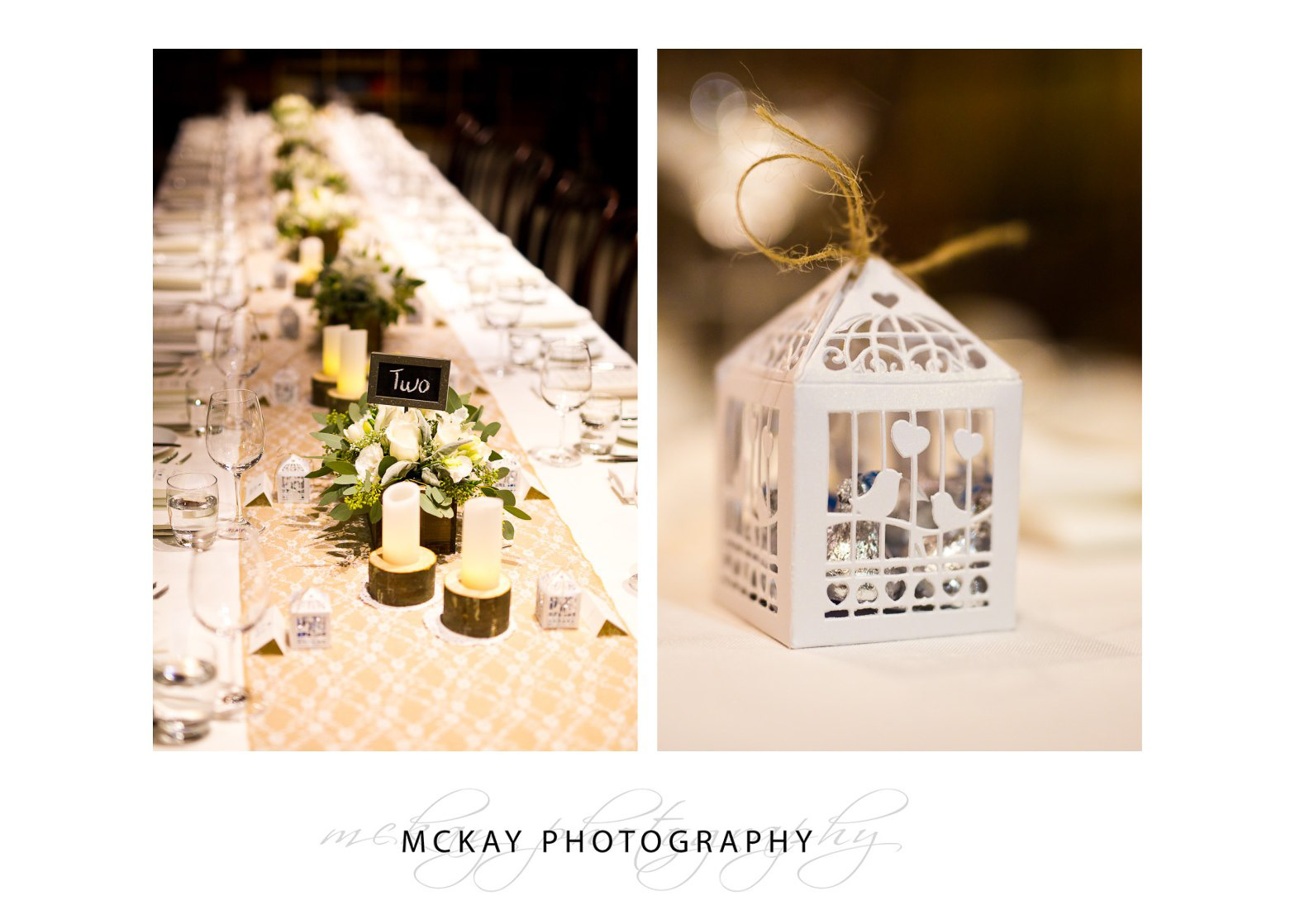 Bendooley Estate book barn wedding table details