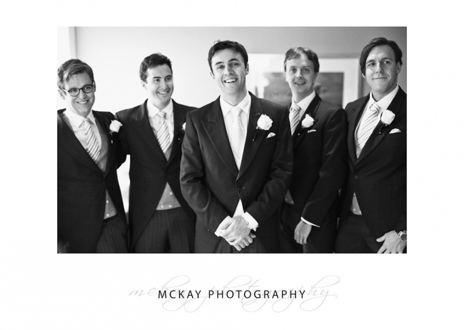 Angus and the groomsmen ready