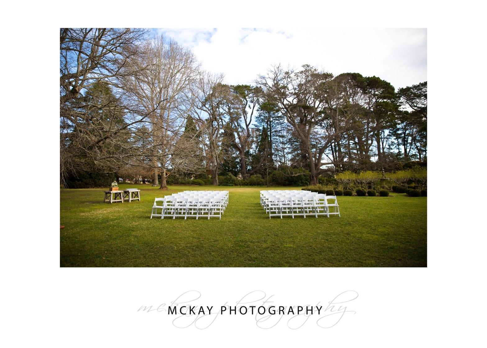 Rose Garden ceremony at Bendooley Estate