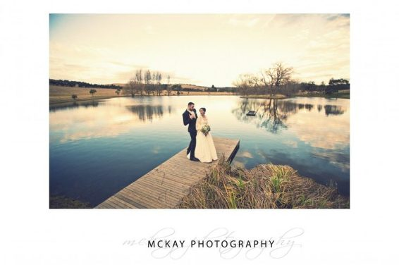 Amanda & Steve working it lakeside at Bendooley Estate