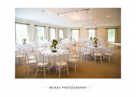 Ballroom wedding set up Milton Park